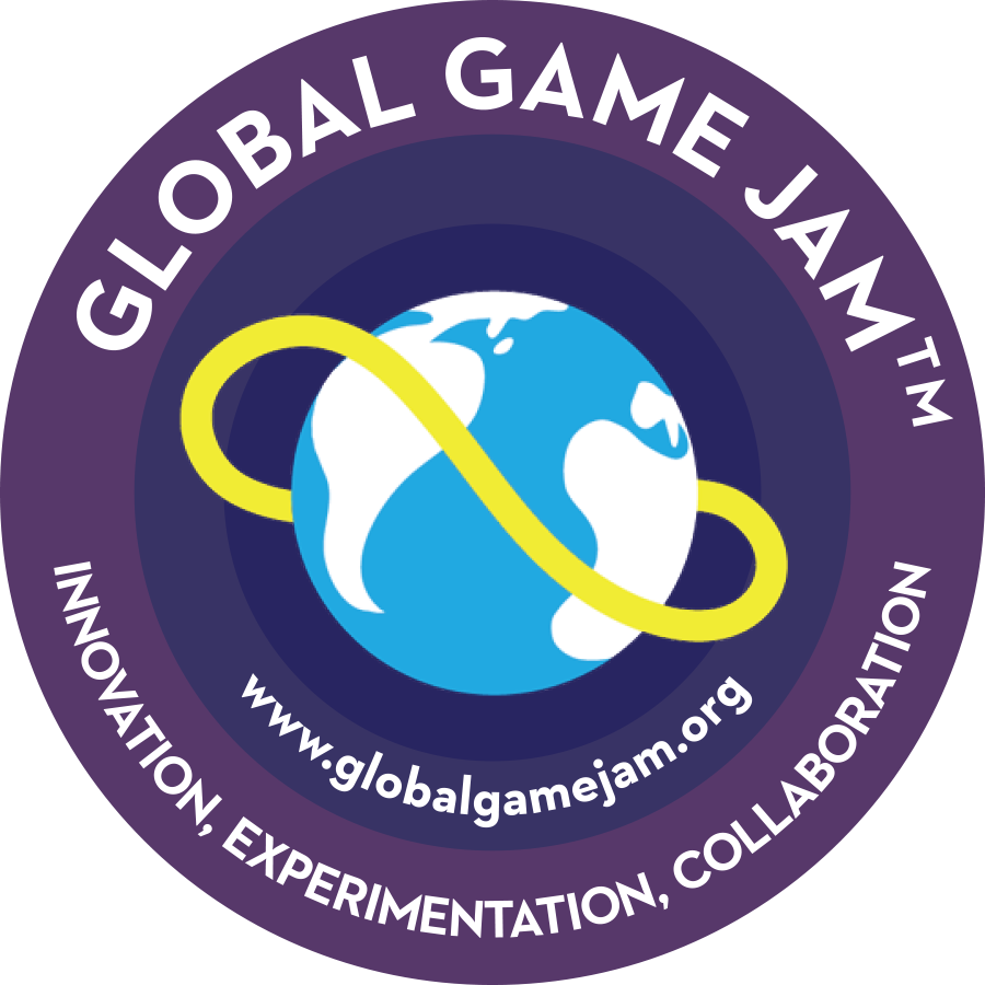 Global Game Jam logo - with the tagline Innovation, Experimentation, Collaboration