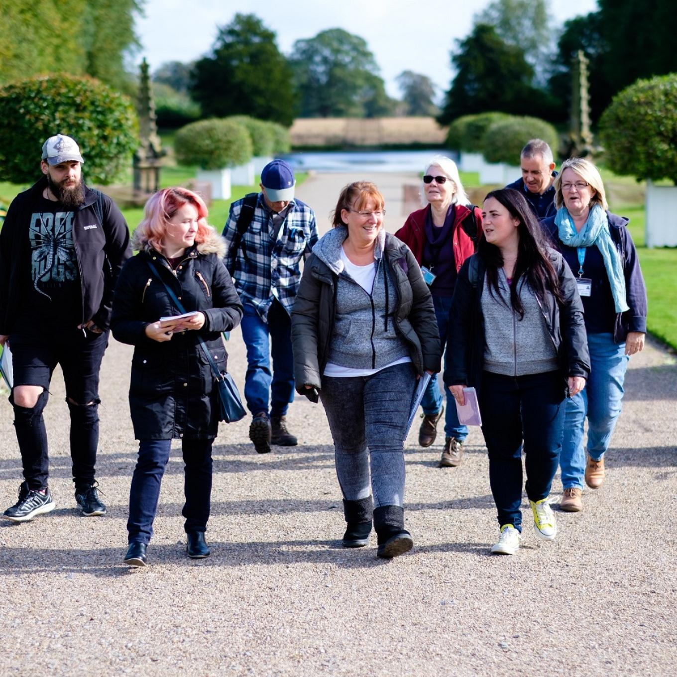 History students on a trip to Erddig in Wrexham