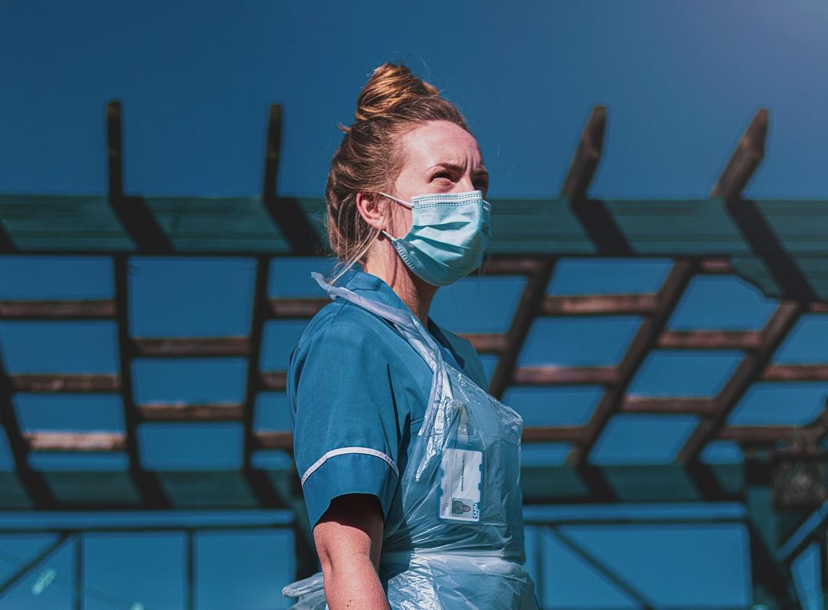 nurse wearing a mask