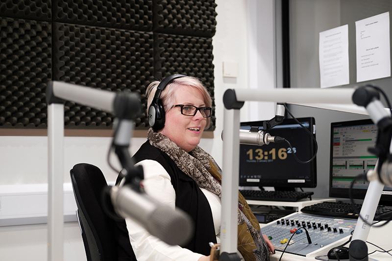 A radio host at Calon FM