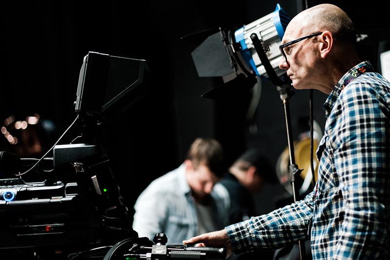 Working in the tv studio