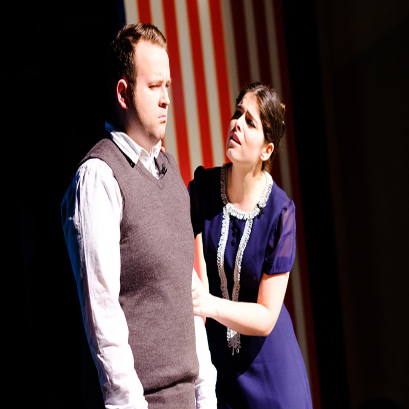 Students performing in Blood Brothers
