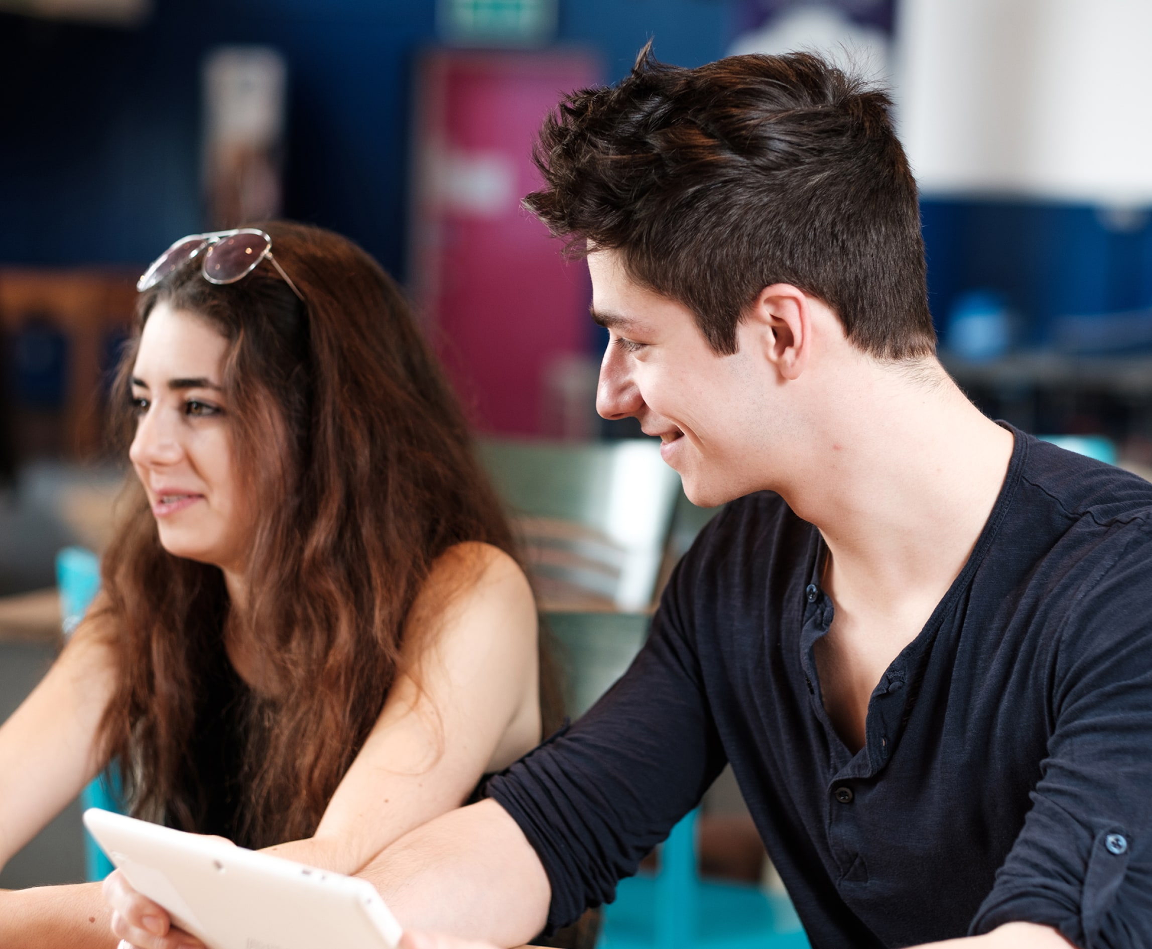 Two students in class